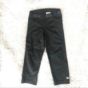 Nike Dri-Fit Cropped Leggings/Tights, Black Sz XS
